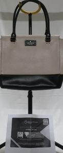 Authentic Kate Spade Beige/Black Tote Purse